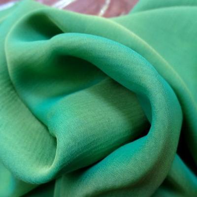 Mousseline de soie changeante vert jaune or 2