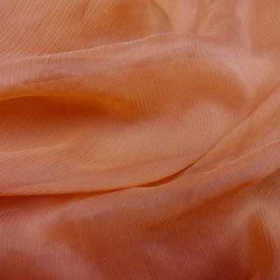 Mousseline de soie corail creponne