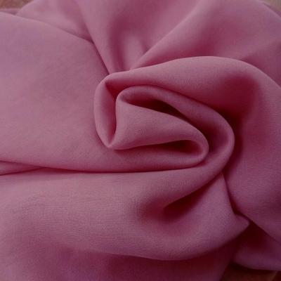 Mousseline de soie lisse rose indien 2