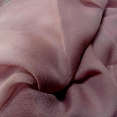 Mousseline de soie lisse teinte vieux rose 2