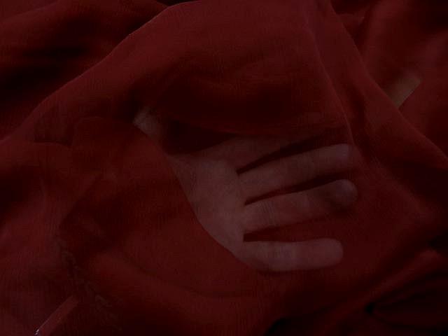 Mousseline de soie rouge carmin 1