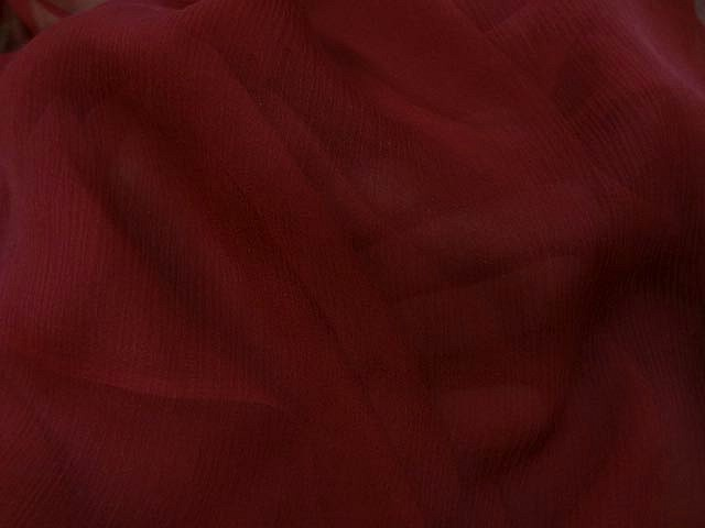 Mousseline de soie rouge carmin 2
