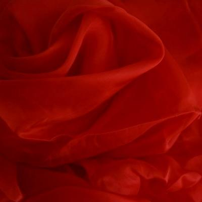 Mousseline de soie rouge ecarlate 2