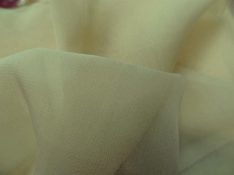 Mousseline de soie teinte jaune beurre 2