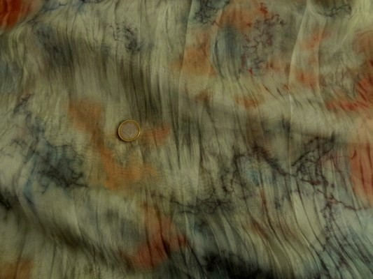Mousseline motifs fond océan abstrait 01
