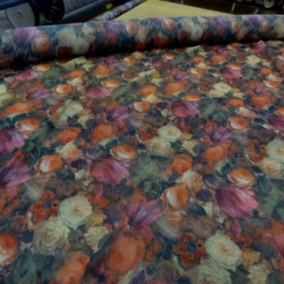 Mousseline polyester imprimee fleuri 3 2