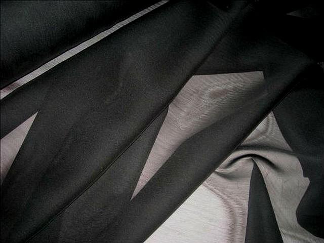 Mousseline polyester noire 1
