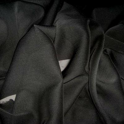 Mousseline polyester noire 2