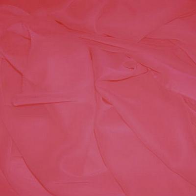 Mousseline polyester rose incarnat