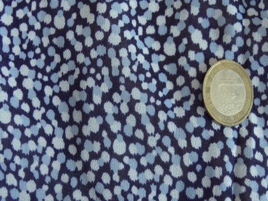 Mousseline tachetée bleu 02