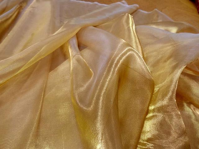 Organza acetate soie or jaune 3
