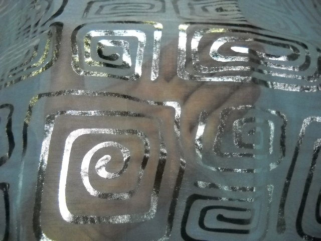 Organza blanc nacre spirales argentees 2