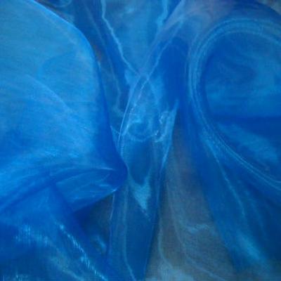Organza bleu electrique 1