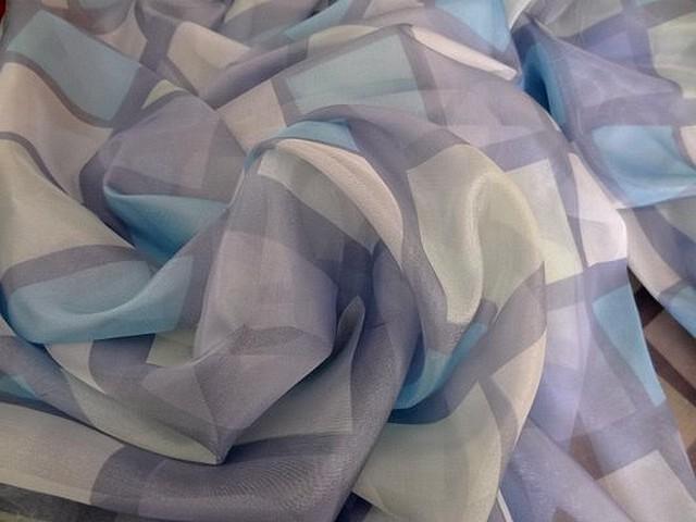 Organza bleu mauve nacre carreaux de guingois 01 2