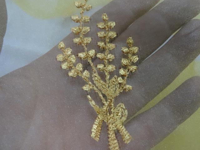 Organza jaune safran surbrode bouquet de ble 3 2