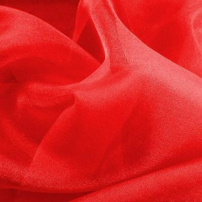 Organza rouge nacre