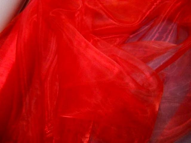 Organza rouge vermillon 1 1