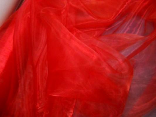 Organza rouge vermillon 1