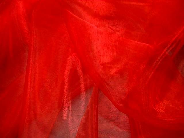 Organza rouge vermillon 2 1