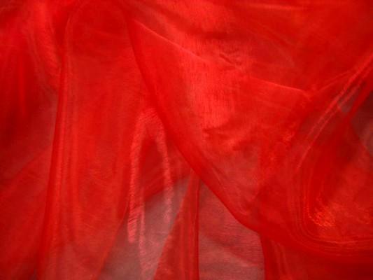 Organza rouge vermillon 2