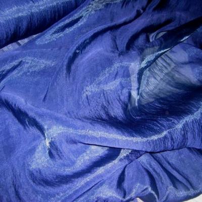 Organza soie lapis lazuli 1