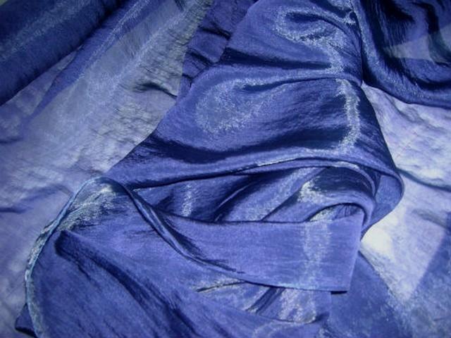 Organza soie lapis lazuli 2