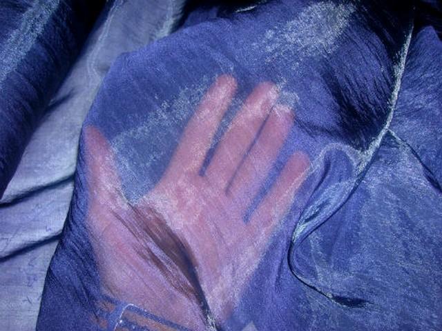 Organza soie lapis lazuli 3