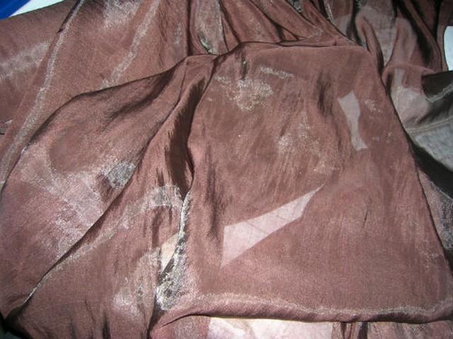 Organza soie marron glace 1