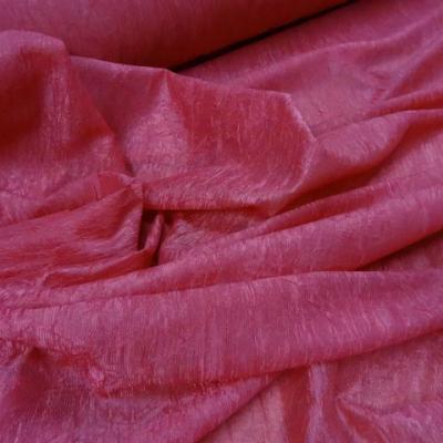 Organza souple rose froisse et plisse permanent 2