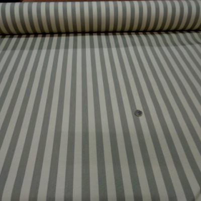 Ottoman en coton beige raye gris2