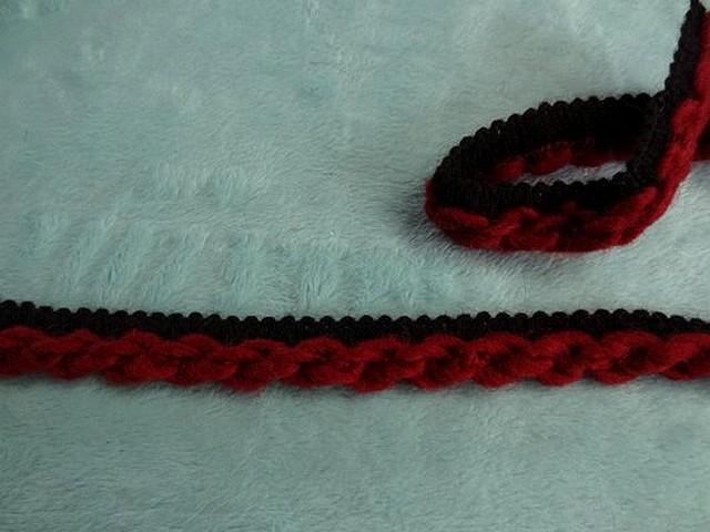 Passepoil bicolore noir bordeaux en laine torus 3