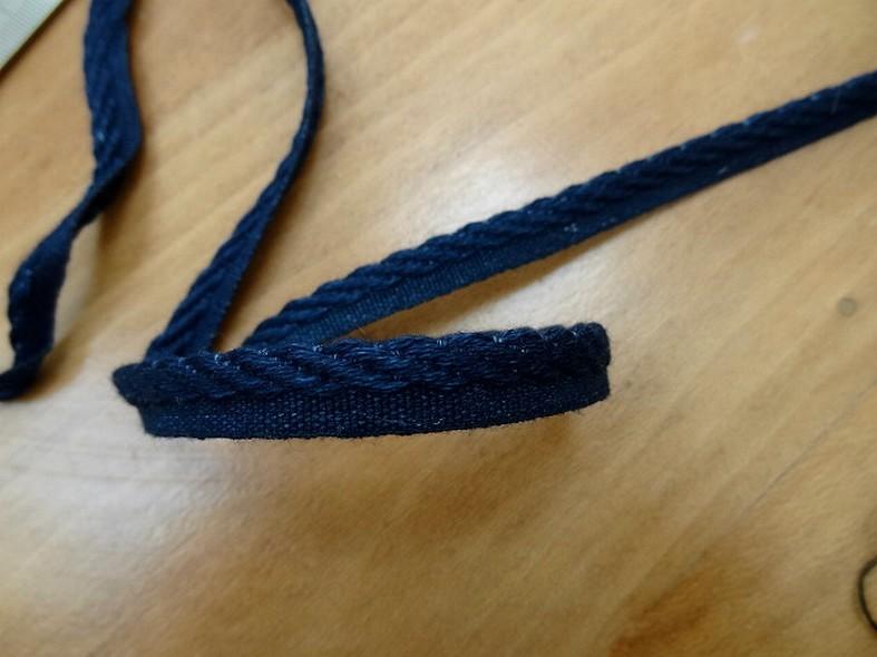 Passepoil coton bleu jean brut