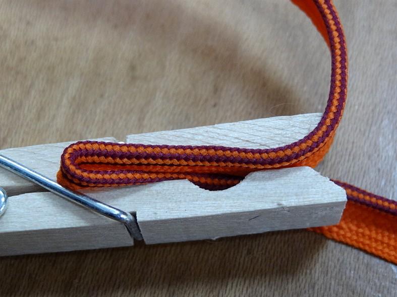 Passepoil fin orange violet 3