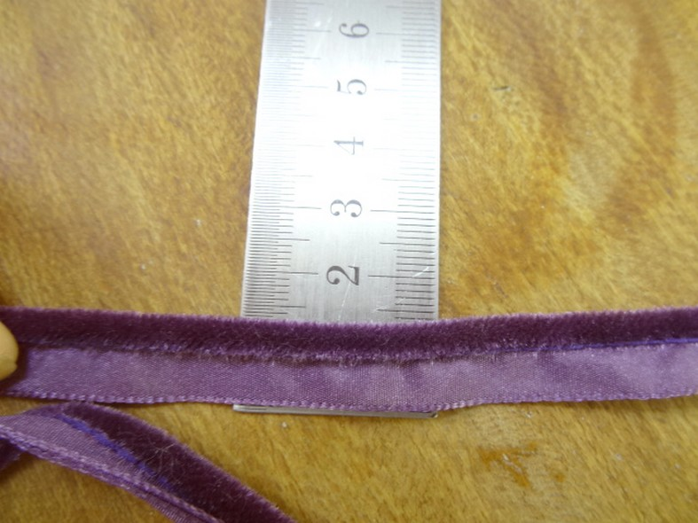 Passepoil velours violet zinzolin 2