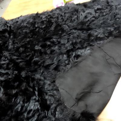 Peau de chevreau noir reconstituee 1