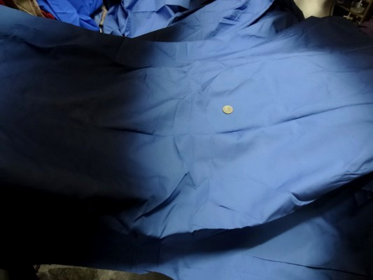 Percale tie and dye bleu acier bleu de minuit 1