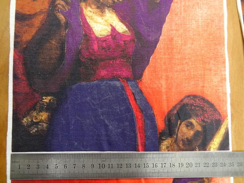 Piece a coudre jersey coton imprime tableau bohemienne 3
