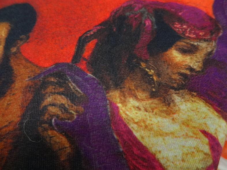 Piece a coudre jersey coton imprime tableau bohemienne 4