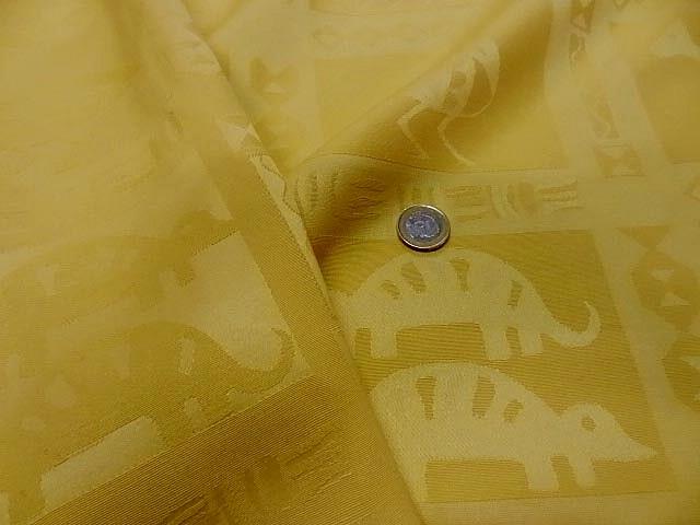 Pique de coton jaune paille patchwork animaux sauvages 3