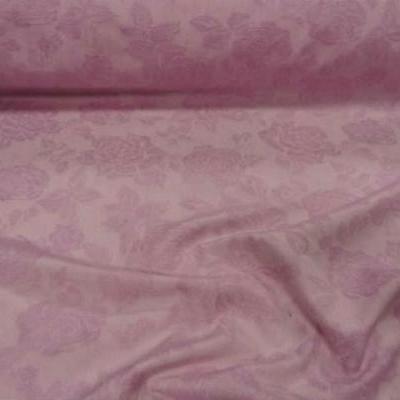 Pique de coton rose dragee fleuri 1