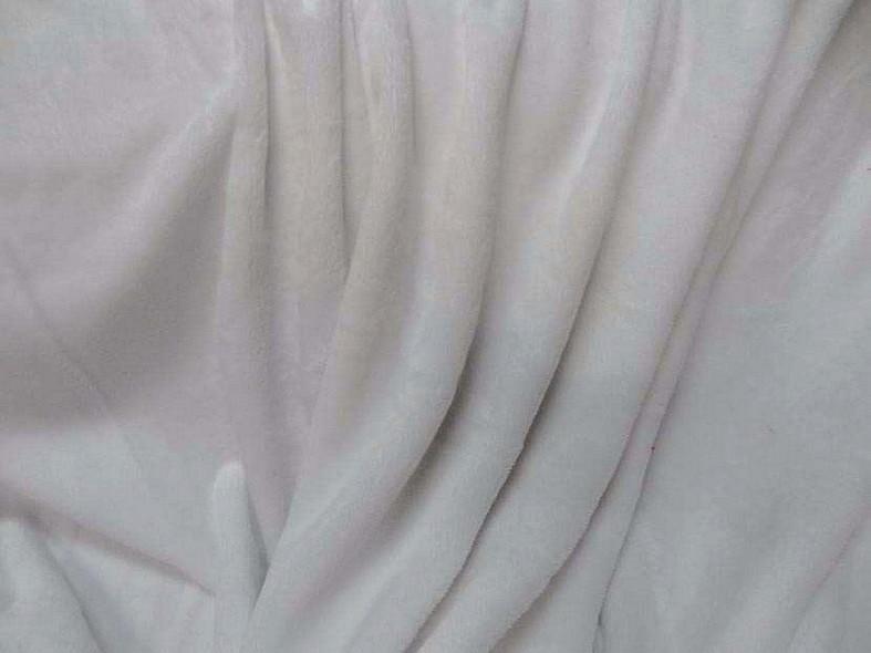 Polaire doudou blanc neige 1