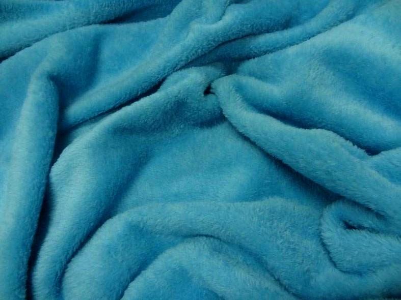 Polaire doudou bleu celeste 1