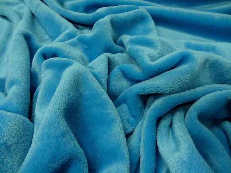 Polaire doudou bleu celeste 3