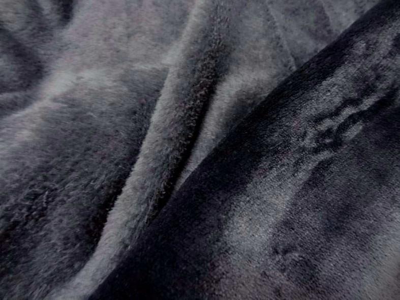 Polaire doudou gris fonce 1