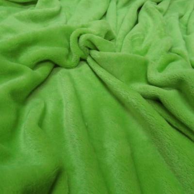 Polaire doudou vert perroquet 1