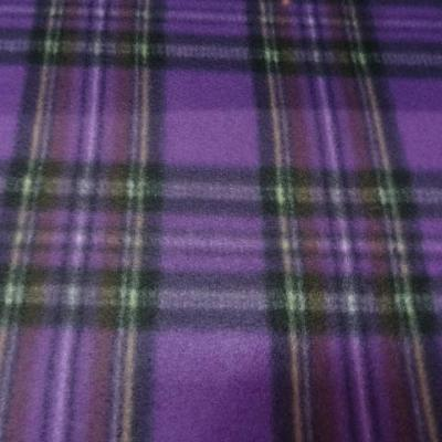Polaire prune a carreaux tartan 6 3