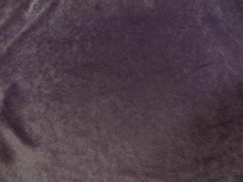 Poly velours effet suedine aubergine 1