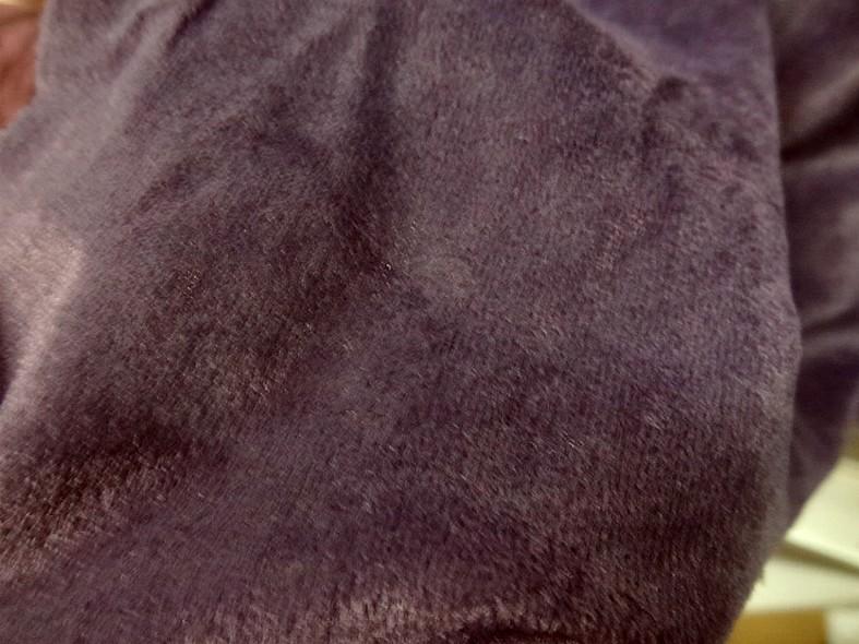 Poly velours effet suedine aubergine