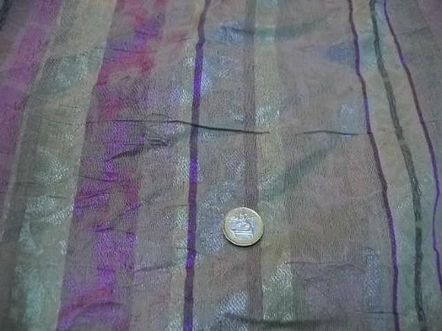 Polyester coton anis glycine raye 1