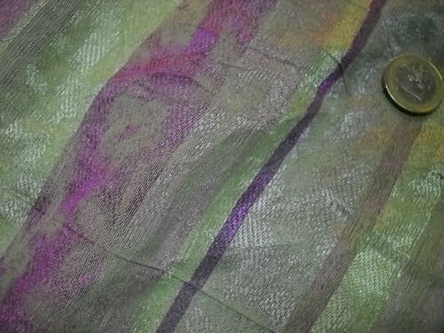 Polyester coton anis glycine raye 2